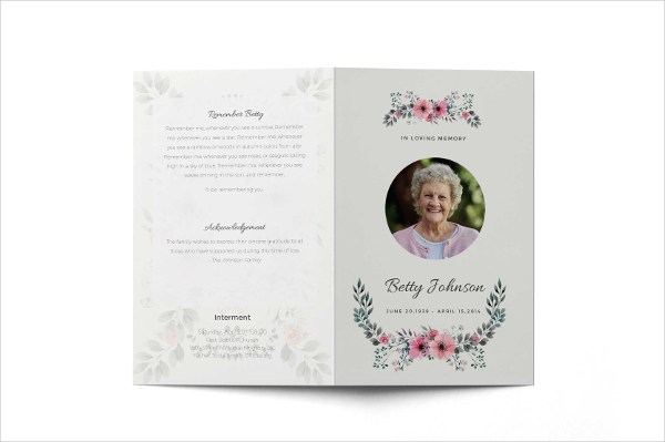Funeral Service Brochure Template