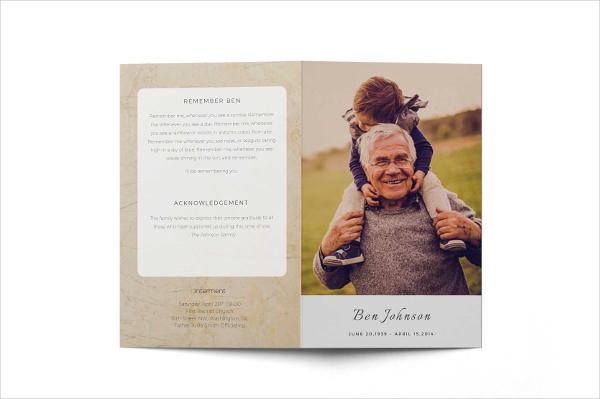 Funeral order of service program Brochure