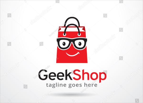 Geek Shop Vector Design Logo Template