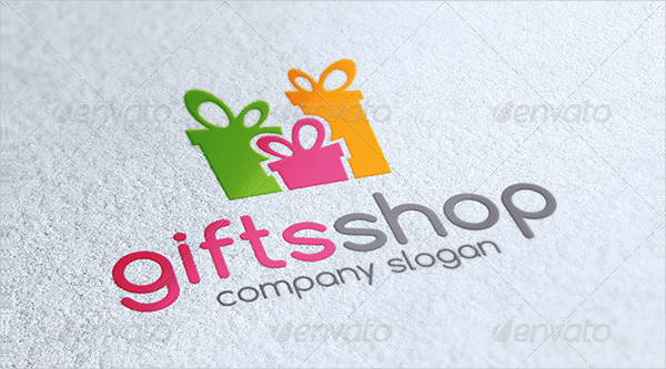 Gifts Shop Logo Design Template