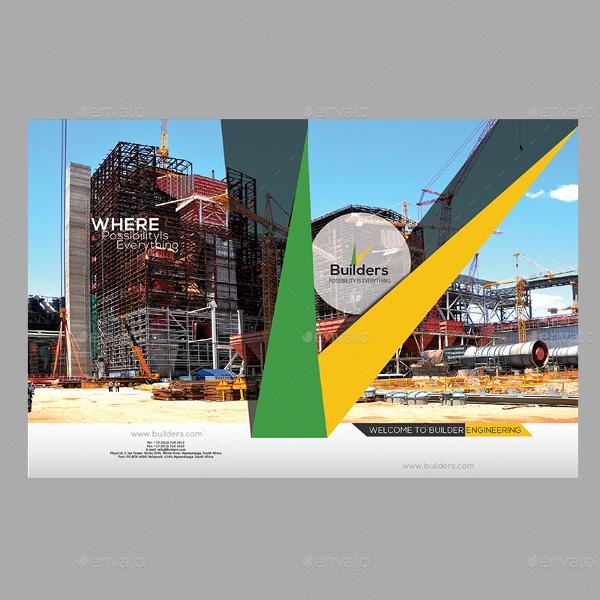 Industrial Construction Brochure Design Templates