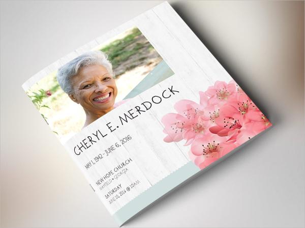 Magnolia Square Funeral Program Brochure