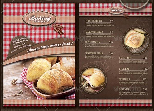 Modern Bakery Flyer And Menu Template