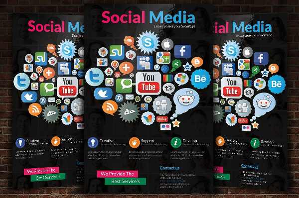 Modern Social Media Advertising Flyer Template