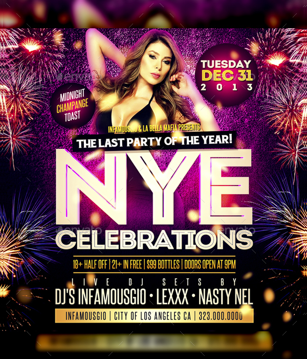 New Years Social Media Design Flyer