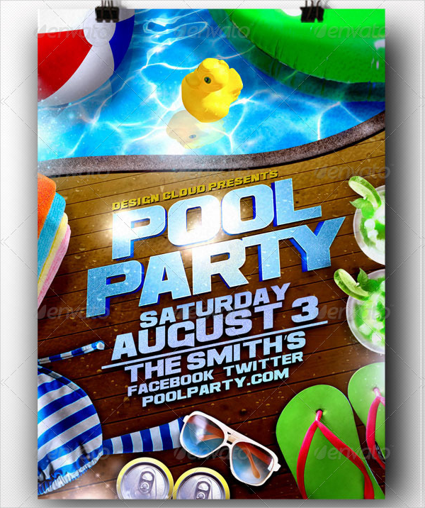 20 pool party flyer templates free premium download for Pool design templates