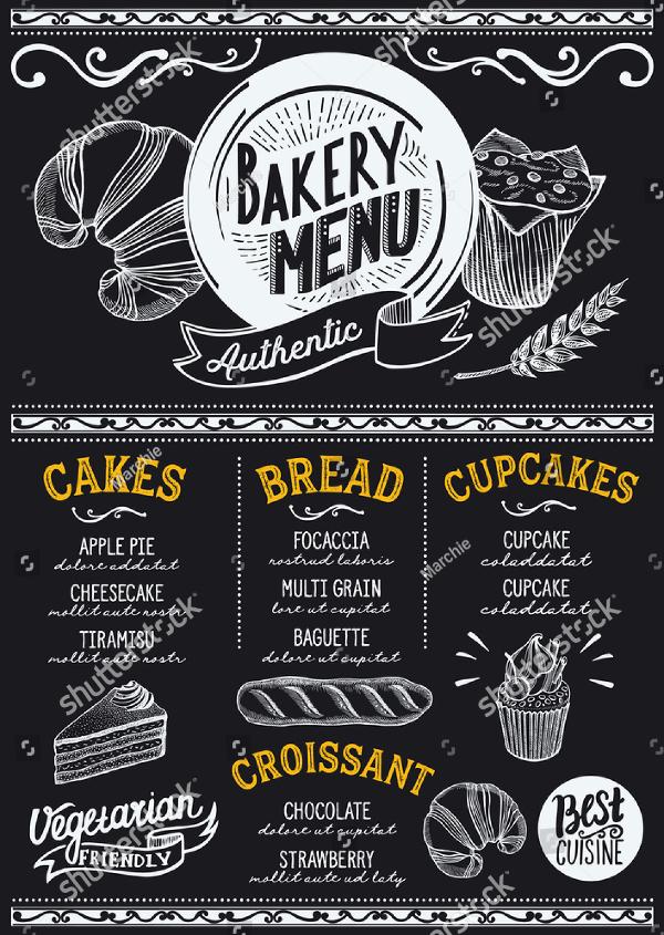 Simple Bakery Menu Flyer Template