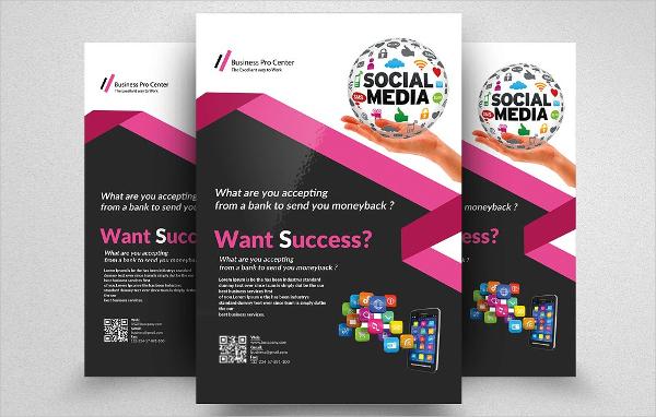 Social Media App Flyer Template