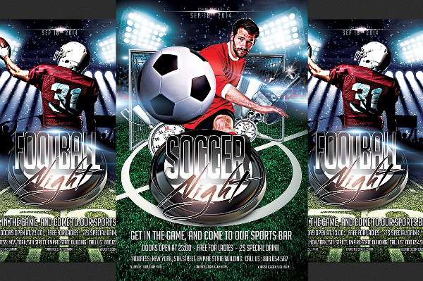 Soccer And Football Flyer Template