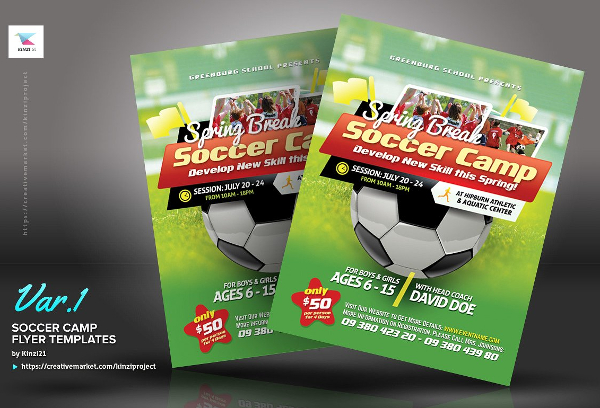 Soccer Camp Flyer Templates