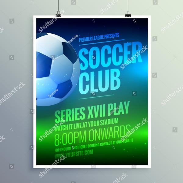 Printable Soccer Club Flyer Template