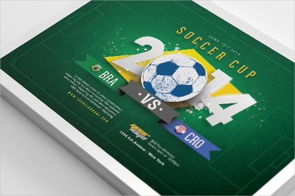 Soccer Cup Flyer Template Design