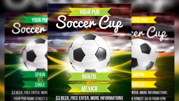 Soccer Flyer Templates  Free  Premium Download