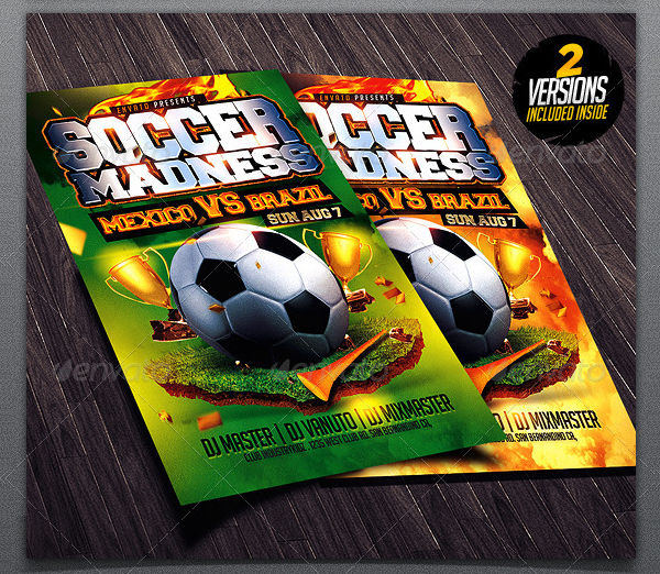 Soccer Madness Flyer Template Design