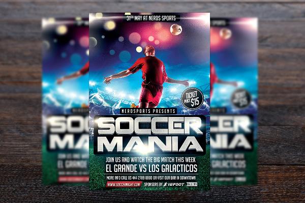 Soccer Mania Sports Flyer Design