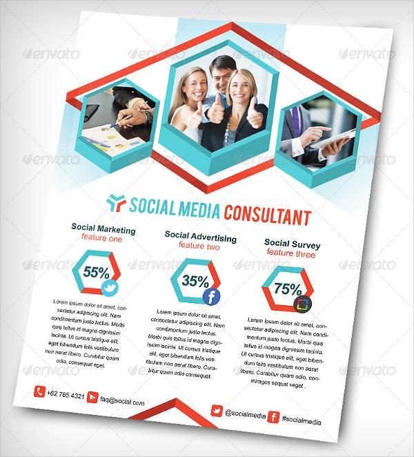 Social Media Consultant Flyer Template