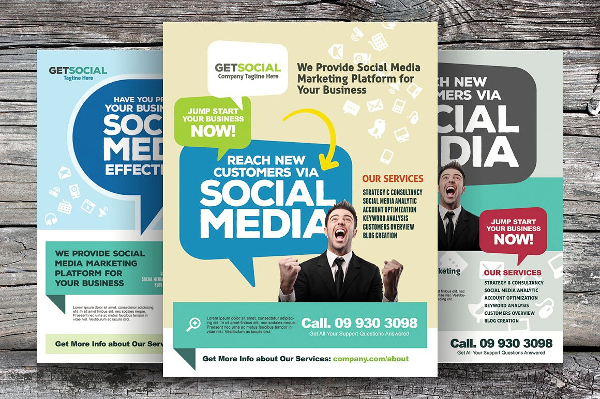 Printable Social Media Marketing Flyers