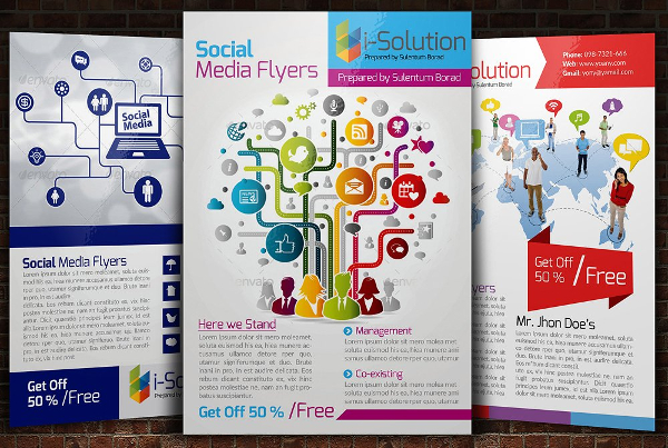 Social Media Promotion Flyer Templates