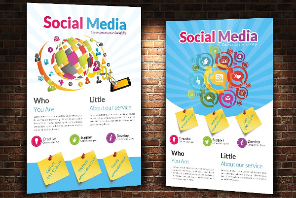 Social Media Services Flyer Templates