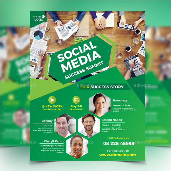 Social Media Summit Flyer Template
