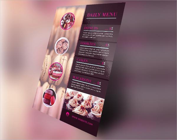 Sweet Tooth Bakery Menu Flyer Template