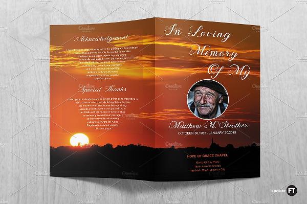 Unique Funeral Services Program Brochures