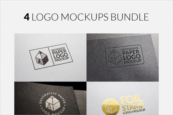 4 Cool Logo Mock-ups Bundle