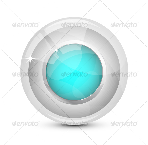 Abstract Glass PSD Buttons Design