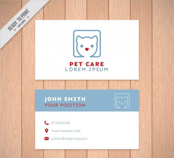 Abstract Pet Care Business Card Free Download