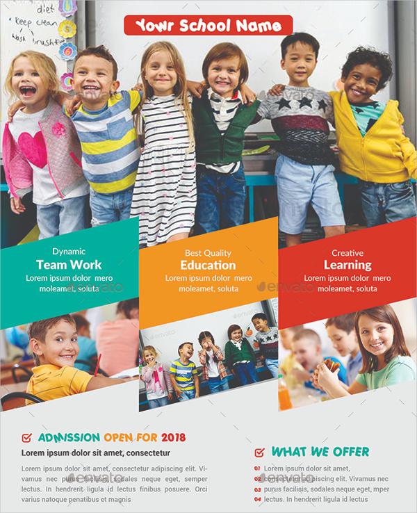 Abstract School Education Flyers Bundle
