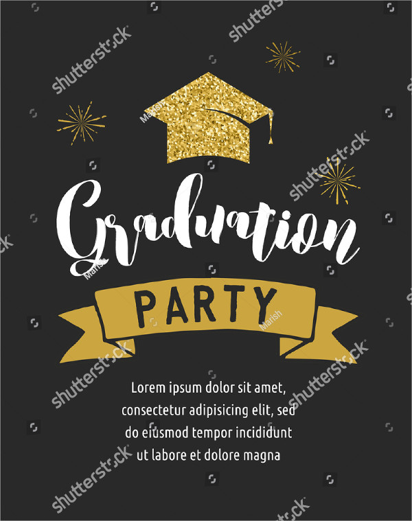 Graduation Party Celebration Invitation Design Template