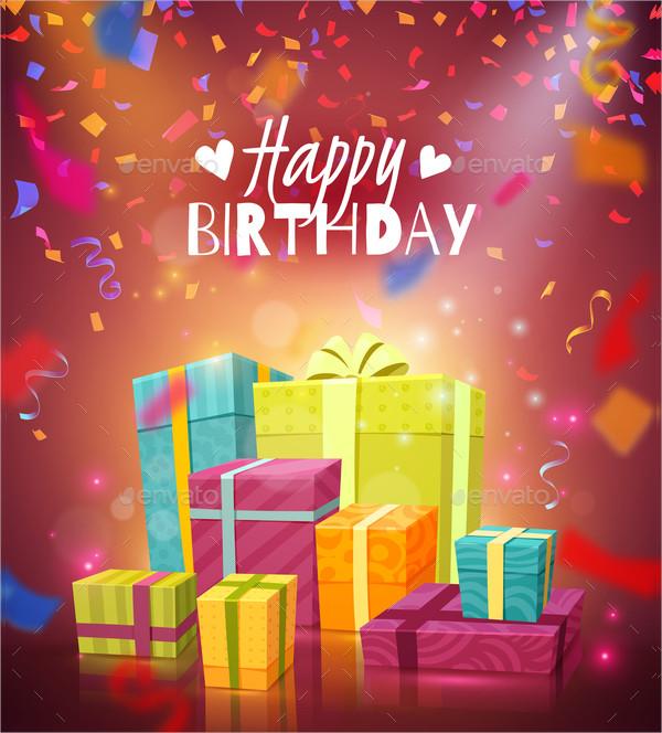 Happy Birthday Colorful Festive Background