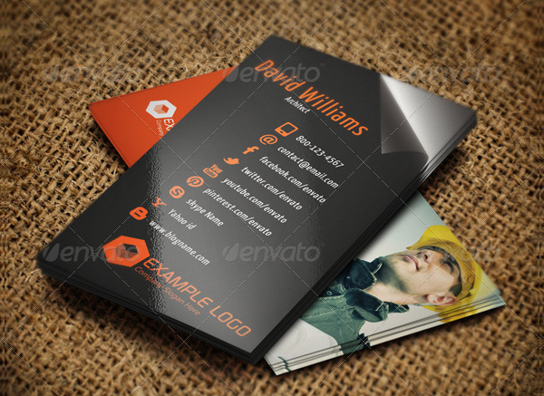 Architect Company Business Card Template