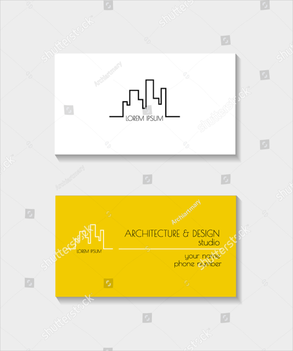 Architectural Vector Business card