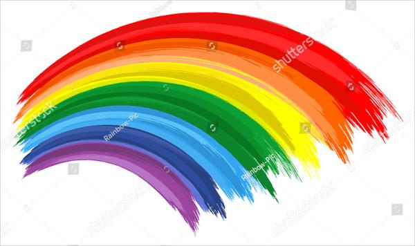 Art Rainbow Color Vector Background