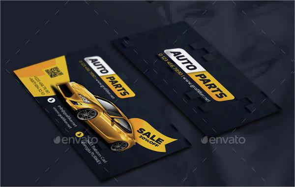 18 automotive business card templates free premium download auto spare shop business card template reheart Choice Image