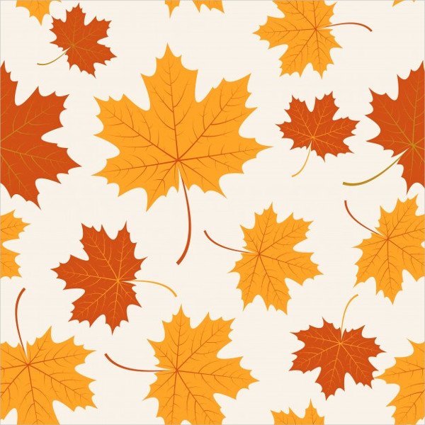 Seamless With Autumn Maple Leaves Free Vector
