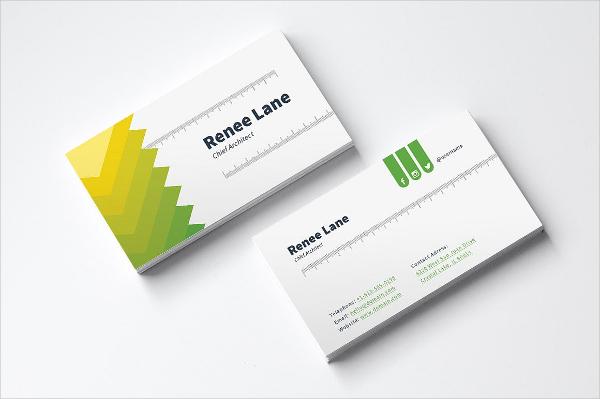 Beautiful Architect Business Card Template