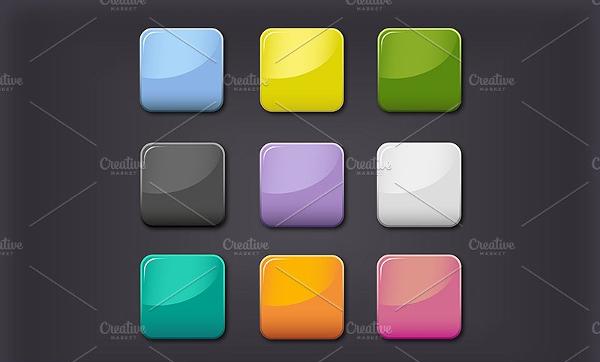 Beautiful Glass Design Buttons