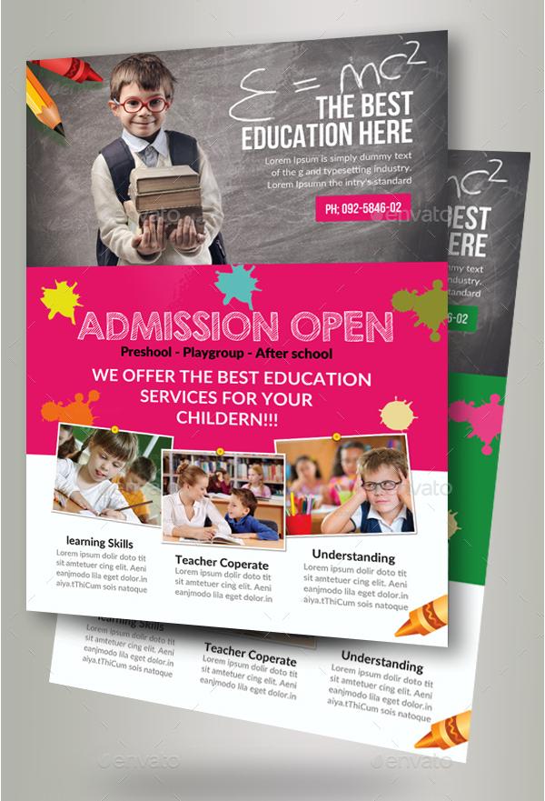 22 Education Flyer Templates Free Adobe Photoshop Illustrator Formats