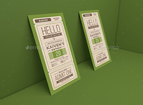 Best Invitation Ticket Template
