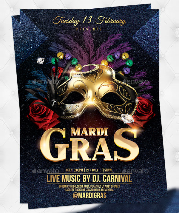 24 Mardi Gras Flyer Templates Free Premium Psd Vector Ai Downloads