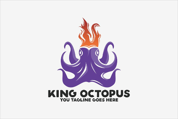 Best Octopus King Logo Design