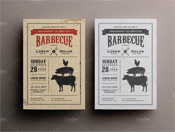 Birthday Steak BBQ Invitation Template