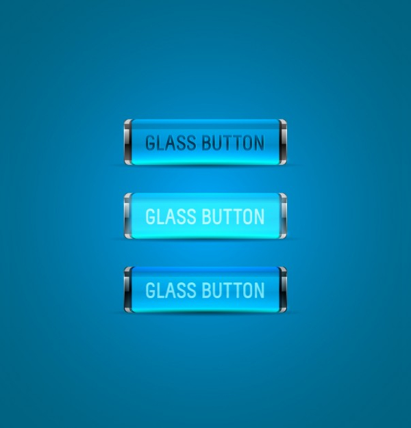 Free Vector Collection Blue Buttons