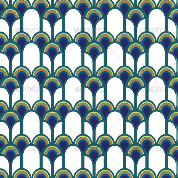 Blue Peacock Pattern