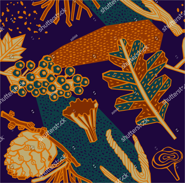 Autumn Pattern Design Vector