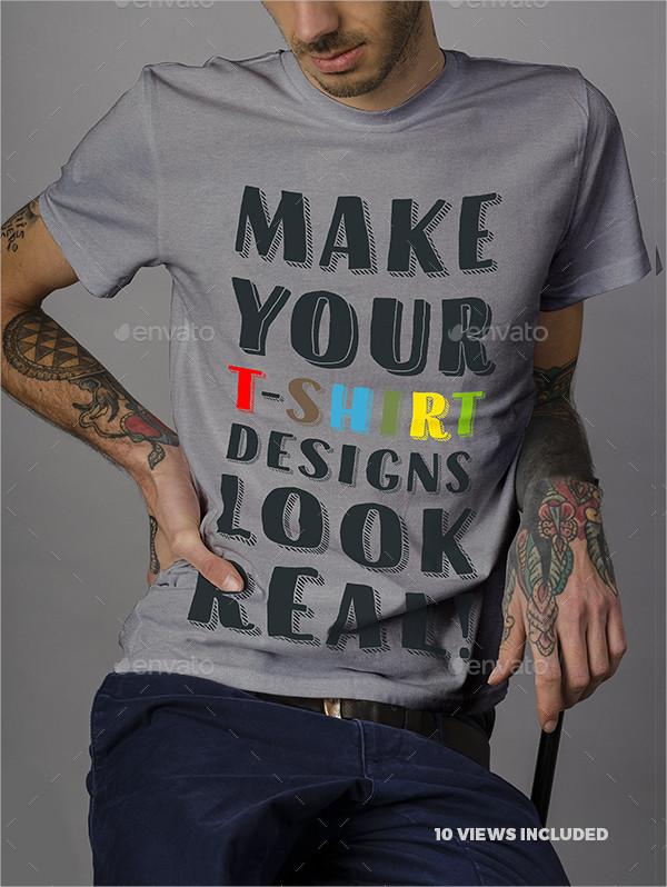 Unique T-Shirt Mockup Template