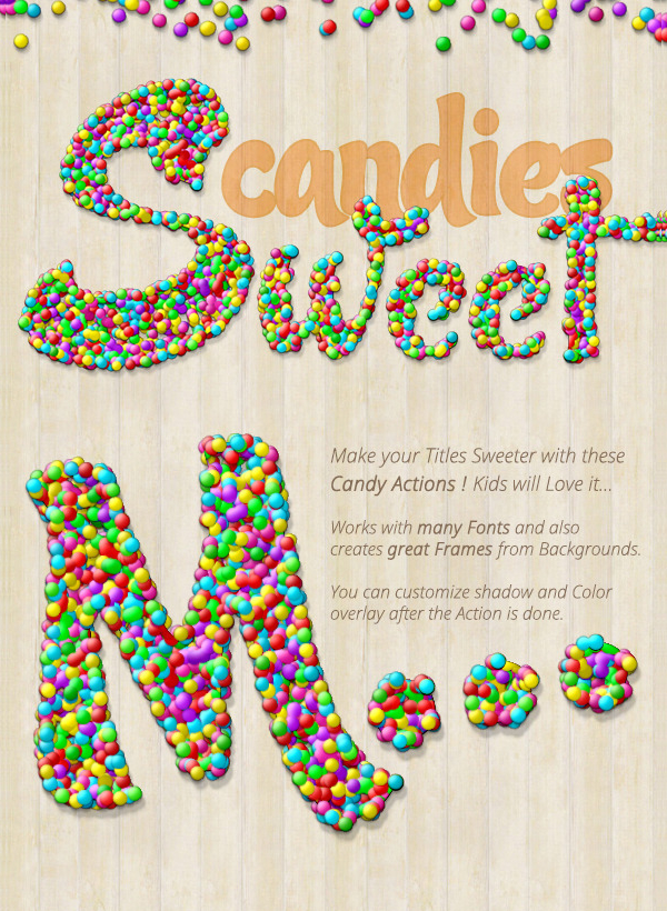 Candy Text Creator Photoshop Actions