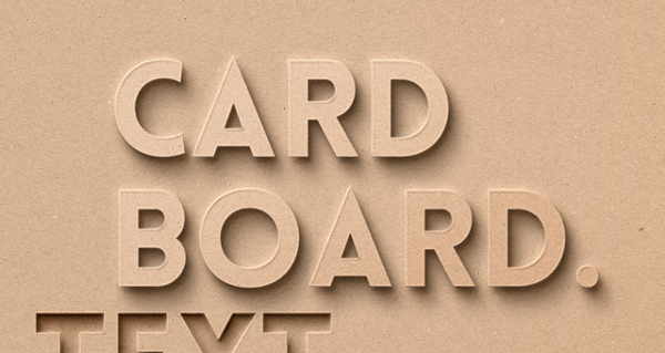 Card Board Psd Text Effect Photoshop Actions